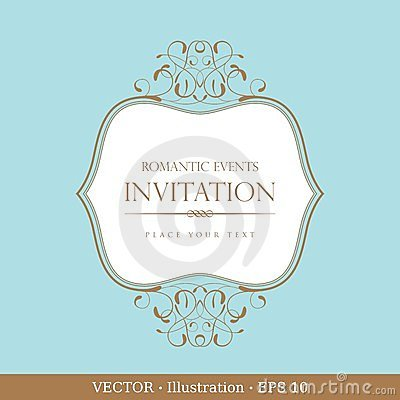 Invitation vintage card