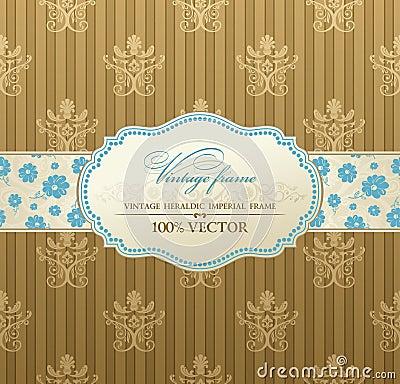 Invitation vintage label  frame