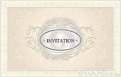 Invitation or Wedding frame with Floral background