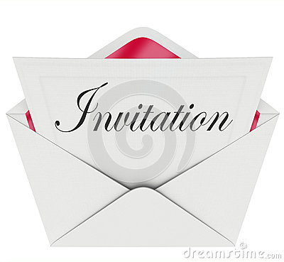Free Invitation Word Card Envelope Invited To Party Event Royalty Free Stock Image - 32727886