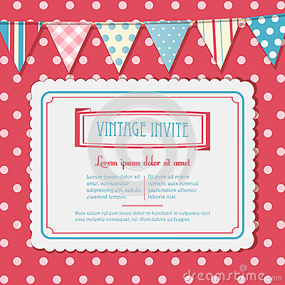 Invite and bunting background landscape