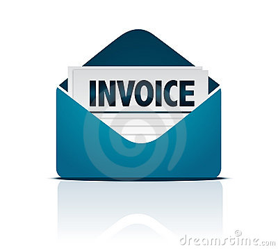 Invoice with envelope