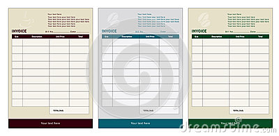 invoice templates royalty free stock images - image: 23001519, Invoice templates