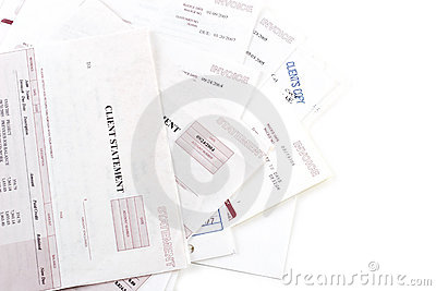 Invoices statements and bills