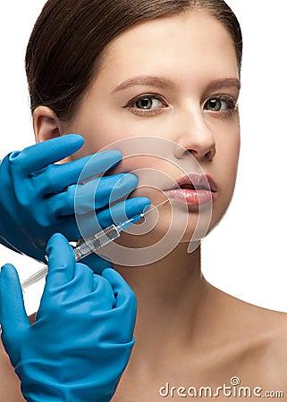 Inyección cosmética del botox