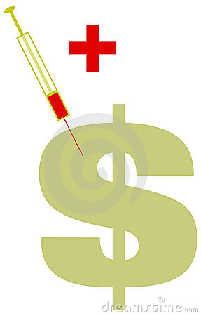 Inyección verde enferma de la muestra de dólar