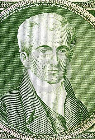 Ioannis Kapodistrias Editorial Stock Image