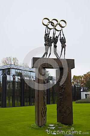 IOC building Lausanne Editorial Stock Image