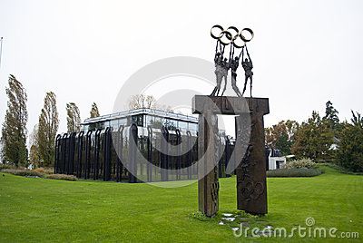 IOC die Lausanne bouwt Redactionele Foto