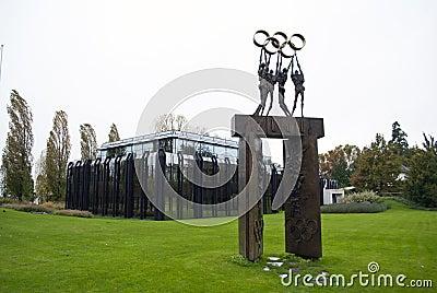 IOC-Gebäude Lausanne Redaktionelles Foto