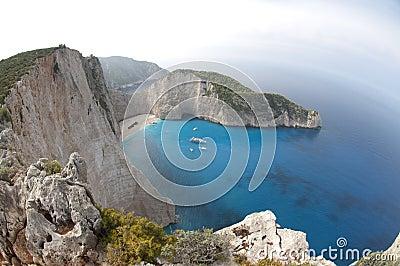 Ionian hav för Navagio strand