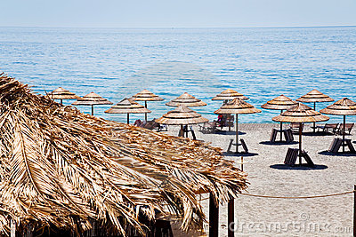 Ionian sea beach in summer day
