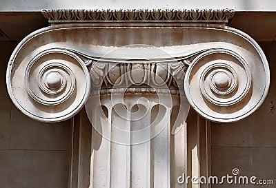 Ionic column capital