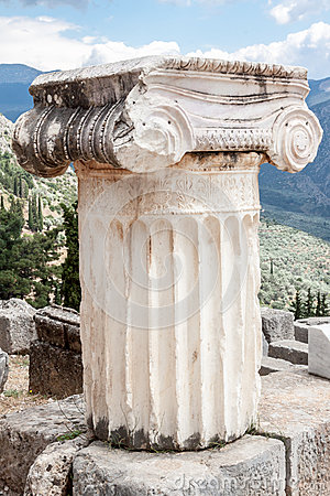 Ionic Column Delphi Greece