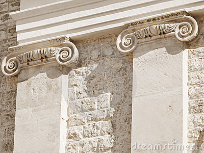 Ionic columns.