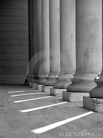 Ionic columns (Black and White