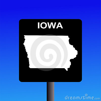 Iowa highway sign