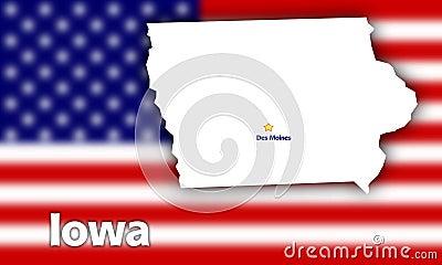 Iowa state contour