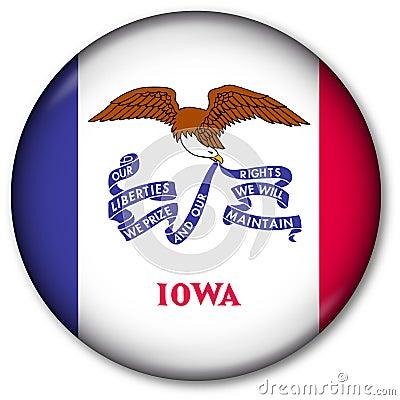 Iowa State Flag button