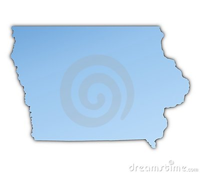 Iowa(USA) map
