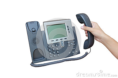IP phone isolated over white backgroud