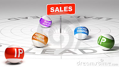 IP Tracking And Reverse, Retargeting Stock Illustration - Image: 61067161