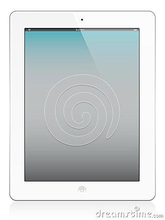 Free Ipad 2 In White Stock Image - 18604051
