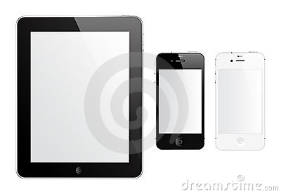 IPad 2 and iPhone 4S Editorial Stock Photo