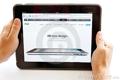 Ipad Editorial Stock Image