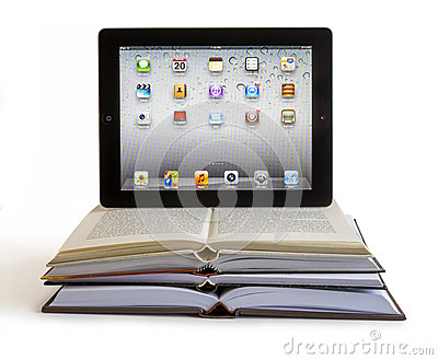 Ipad 3 on books Editorial Photography