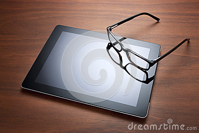 Ipad Computer Tablet and Glasses