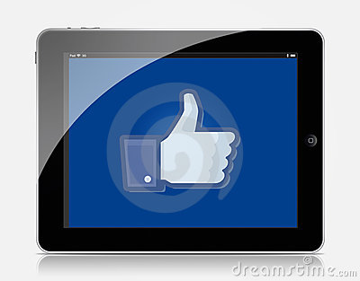 Ipad facebook Editorial Photography