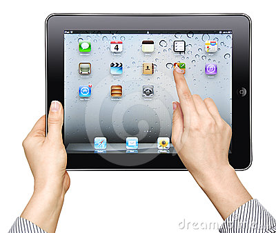 Ipad in female hand Editorial Photo