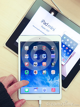 IPad mini Editorial Stock Photo