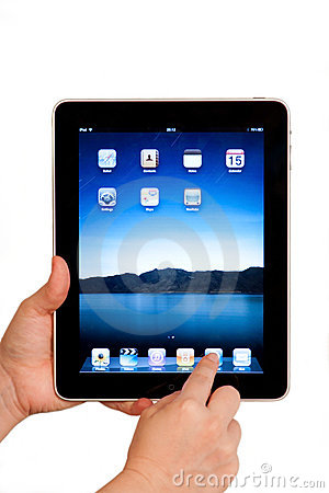 Free IPad Tablet Computer User Hands Royalty Free Stock Image - 15165496