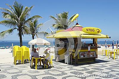 Ipanema Beach Boardwalk Kiosk Editorial Photo
