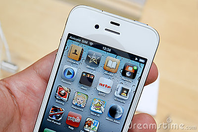 Iphone 4 Editorial Stock Image