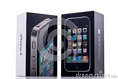 IPhone 4 Vs. iPhone 3GS Editorial Photo