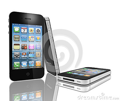 IPhone 4s with the faster dual-core A5 chip. Editorial Stock Photo