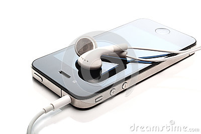 Iphone 4S and media listen Editorial Photography