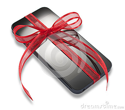 Mobile Cell Phone Christmas Present Gift Editorial Stock Photo