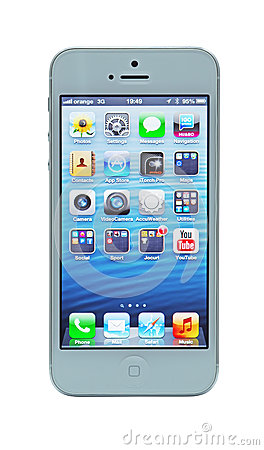 IPhone 5 with Retina display Editorial Stock Photo