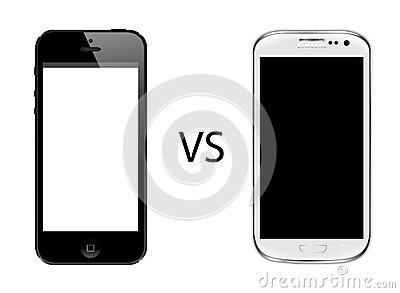 Iphone 5 vs Samsung galaxy s3 Editorial Image