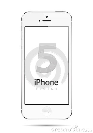 Iphone 5 White Vector Editorial Stock Photo