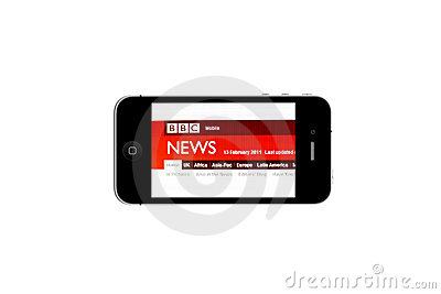 iPhone and BBC NEWS Editorial Photography