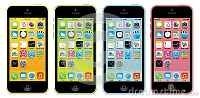 Iphone 5c Editorial Stock Image