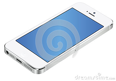 Iphone 5 3d white Editorial Stock Photo