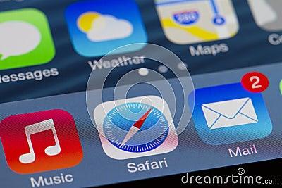 Iphone domowy ekran Zdjęcie Editorial