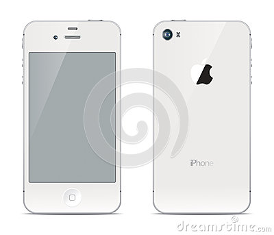 IPhone front and back sides Editorial Stock Image