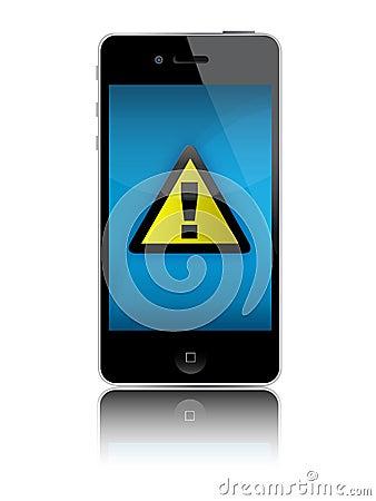 Iphone no signal Editorial Image